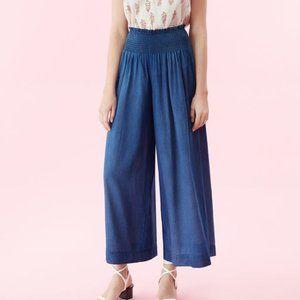 REBECCA TAYLOR La Vie Blue Denim Tissue Pants